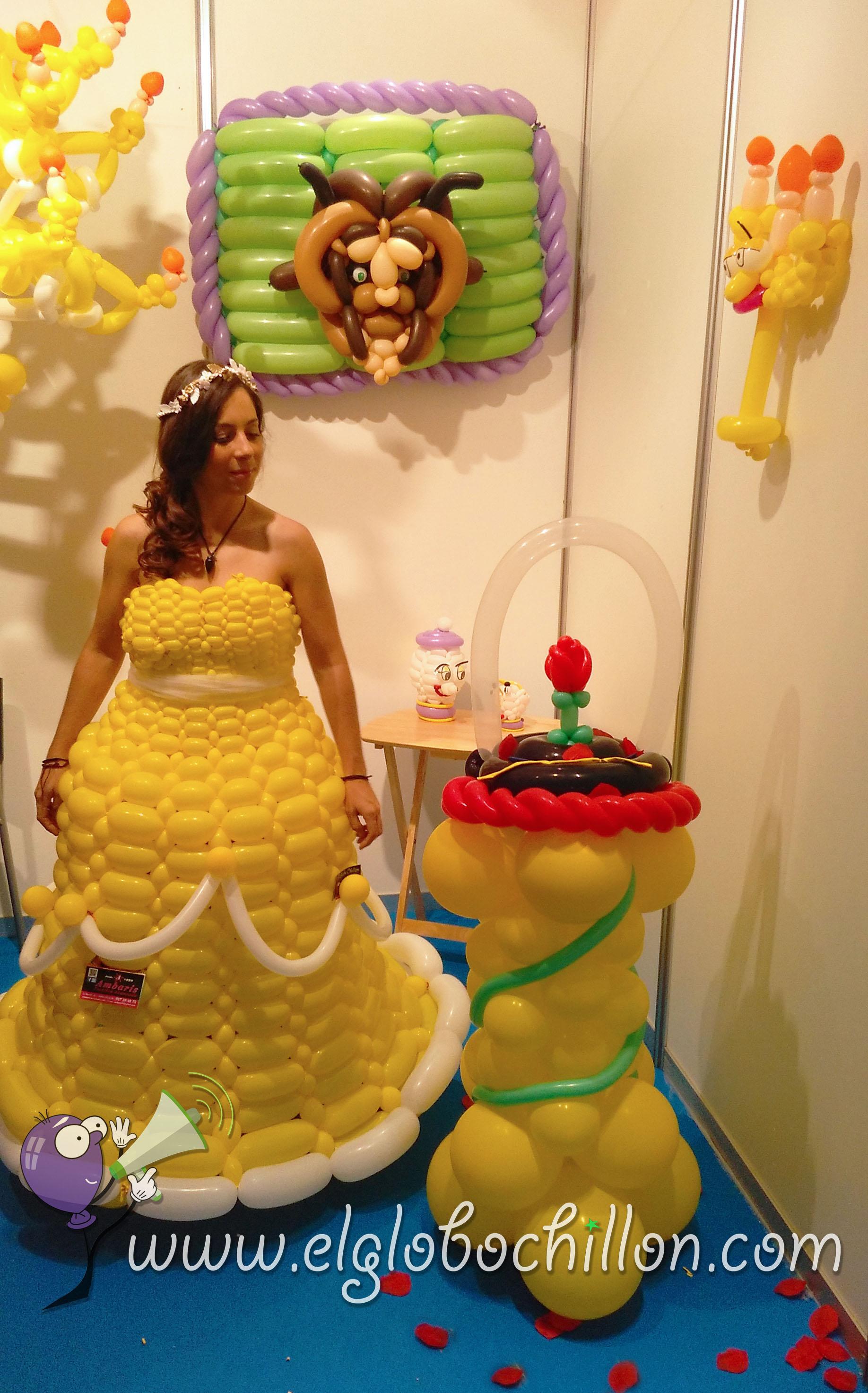 Fhotocoll la bella y la bestia el globo chill n globos for Figuras para decoracion